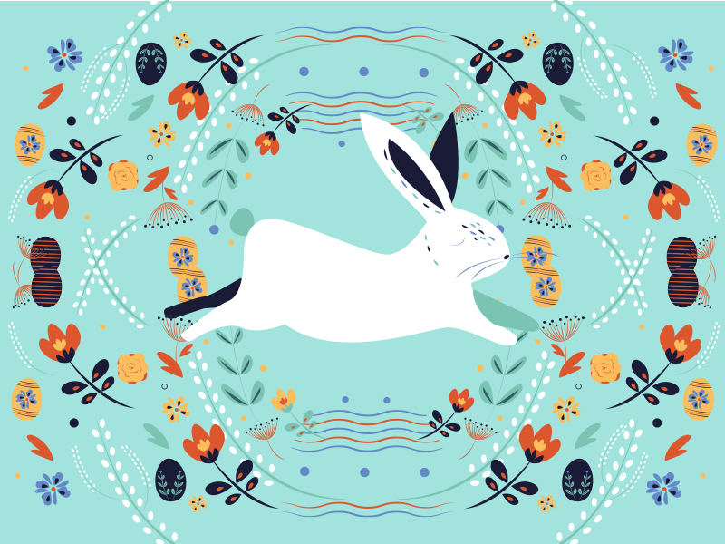 Happy Easter! bunny easter bunny easter easter egg happy easter! illustration