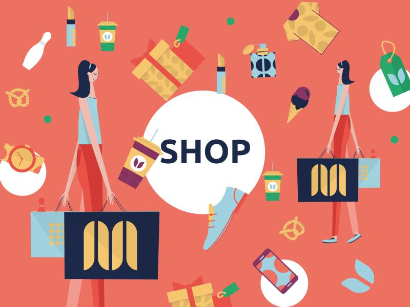 Galeria Shop mall shop web illustration