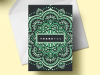 Mandala Thank You Greeting Card