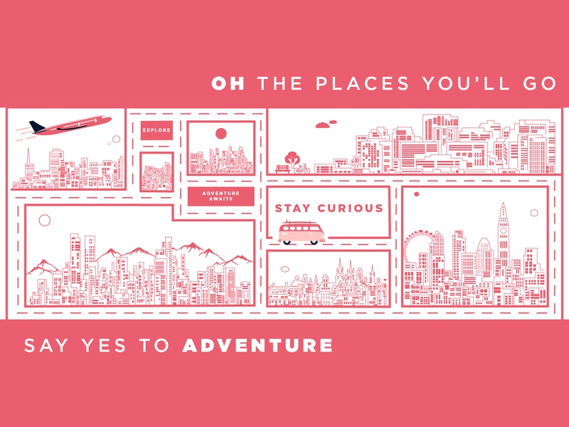 Oh The Places Youll Go By Jennifer Ho Dribbble Dribbble