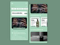 UX/UI - COSMETIC ux ui colors light design app typography branding minimal mobile ui app ux design ui design