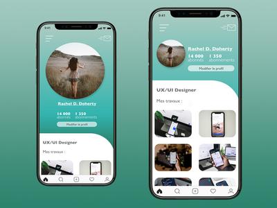UI/UX DESIGN - USER PROFILE ux ui mobile ui dailyui app ux design ui design design