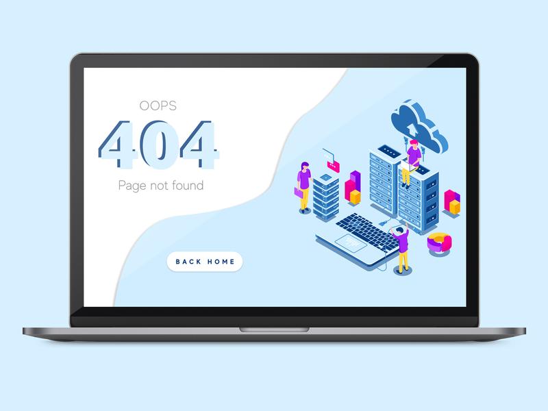 UI/UX DESIGN - 404 ERROR PAGE vector illustration typography ux ui dailyui web ux design ui design design