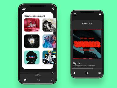 UI/UX DESIGN - MUSIC PLAYER ux ui mobile ui app dailyui ux design ui design design