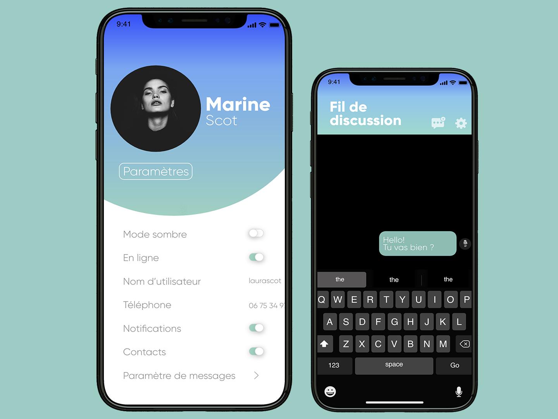UI/UX DESIGN - DIRECT MESSAGING typography ux ui mobile ui app web dailyui ux design ui design design