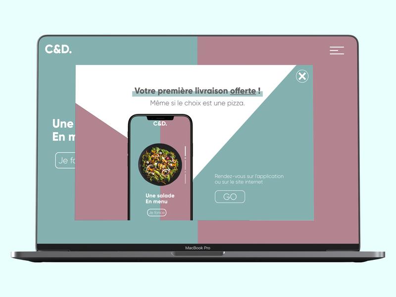 UI/UX DESIGN - POP UP/OVERLAY website minimal ux ui mobile ui app web dailyui ux design ui design design