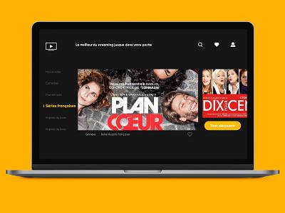 UX/UI - TV APP minimal app ux ui dailyui ux design ui design