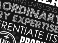 Black & White Typography Poster