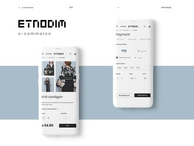 Etnodim Concept - e-commerce project mobile version
