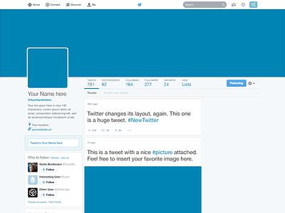 Freebie: Twitter 2014 GUI PSD (New profile template) freebie template psd photoshop twitter 2014 profile header customizable