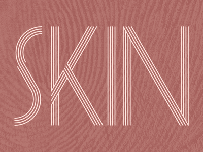 SKIN Typography multi-linear minimalism pink stroke geometric logo linear texture skin typography