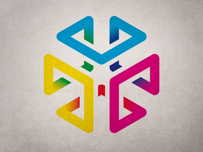 The CMYKube logo cmyk cube cyan magenta yellow colors print spectrum color space