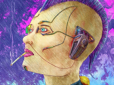 Cyberpunk in Rain