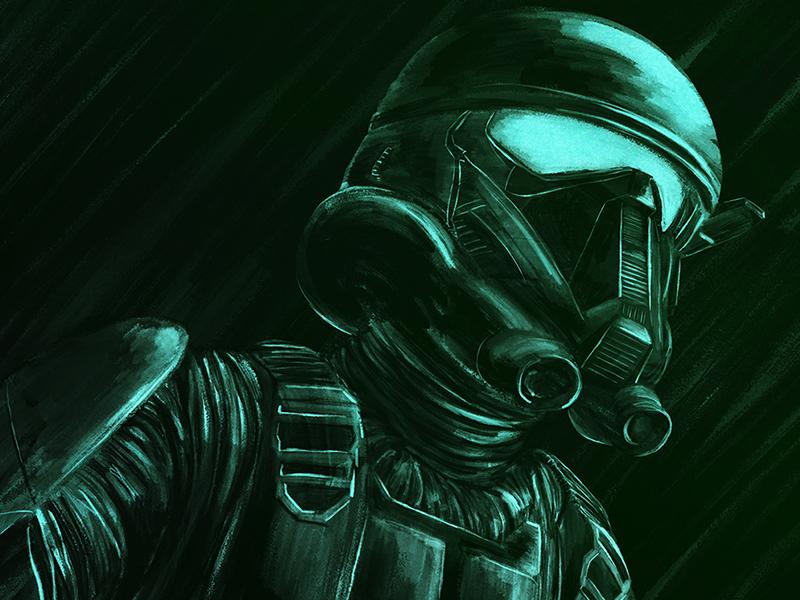 Death Trooper night green soldier sci-fi high contrast trooper death wars star star wars