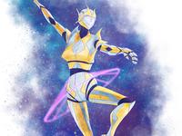 Robot Ballerina In Space