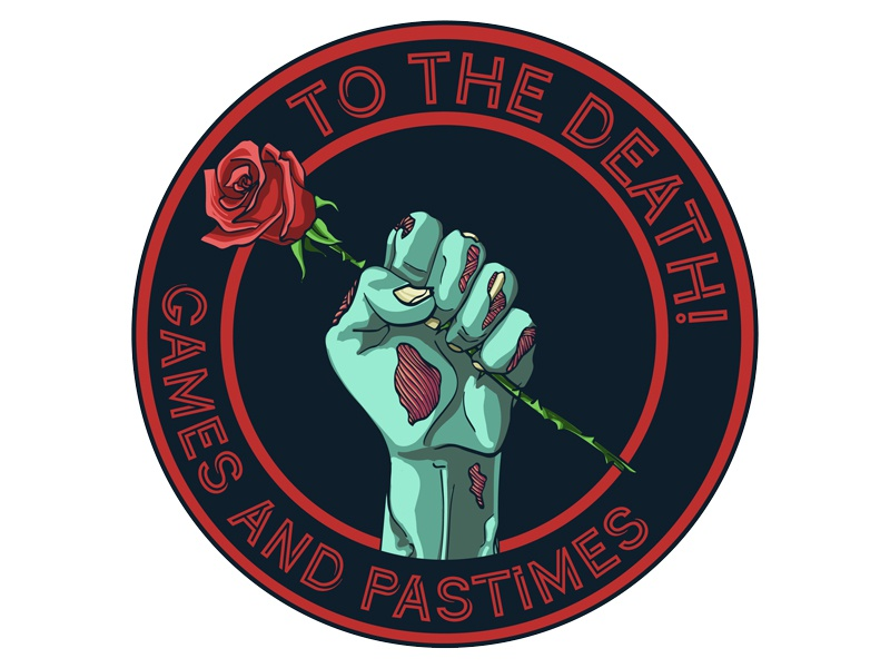 To The Death! Games and Pastimes Logo undead cards card game board game death hand rose zombie