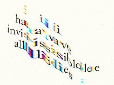I have invisible allies experimental type art cmyk scan visual poetry poetry experimental design typography