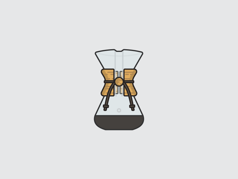 Chemex coffee chemex illustrator vector illustration icon