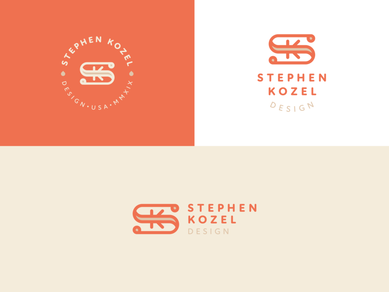 Personal Mark with Type graphic  design logotype logomark vector k s monogram lettermark logo mark branding brand