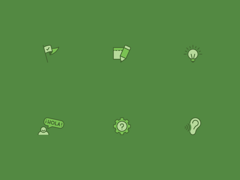 Things for a thing. icon set mini icon green design vector icon line
