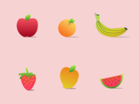 Fruits Icons - Illustrations