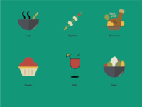 6 Course Meal Icons