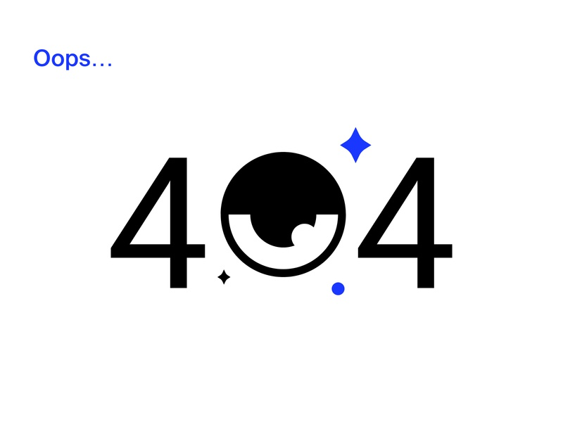 Oops... oops minimal vector illustration design 404 error 404
