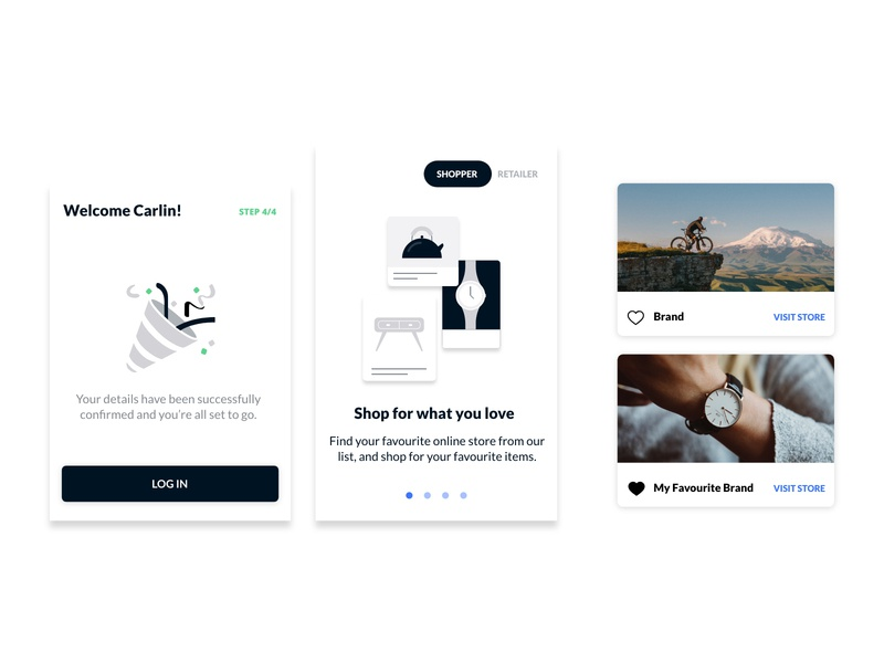 Fintech UI Components illustration ux app website vector branding identity minimal ui design