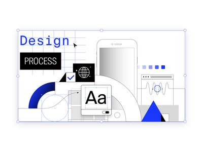 Design process 🌐🌀💙💎🌍🧩📱