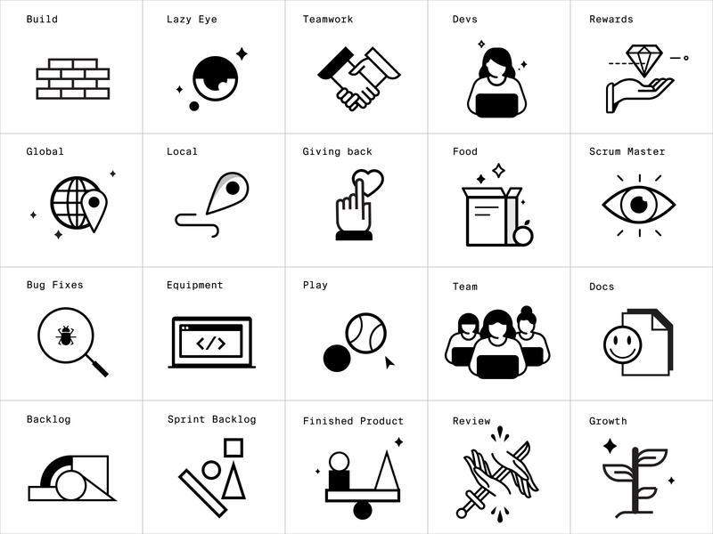 IO Icon Pack icon set icon minimal vector