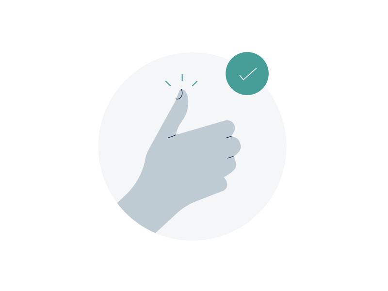 EIDO INFORM Illustrations healthcare hospital watch phone go affirmative good hand minimal icon branding app ui identity flat illustration design vector