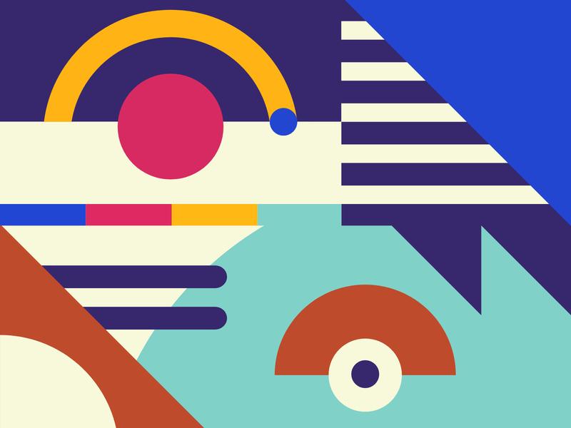 Paye Patterns startup african africa bright bold branding minimal vector illustration shapes geometric pattern