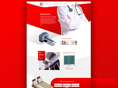 Misr International Hospital Design & Development hospital website misrhospital misr doctor clinic hospital ux ui waleedsayed illustration website design