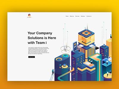 Team i group website design development branding ui ux ecommerce waleedsayed illustration website design