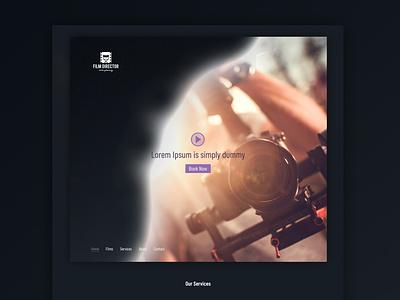 Film Director - Website Design director event filmstrip films dubai ux ui ecommerce waleedsayed illustration website design