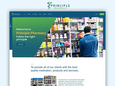 Principle Pharmacy - Website Design & Development principle medical pharmacy ux ui ecommerce waleedsayed illustration website design