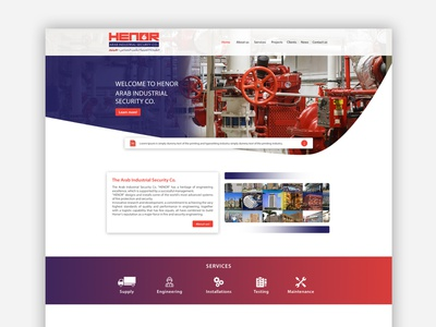 Henor - Website Design & Development henor fire system fire fire alarm ux ui waleedsayed illustration website design