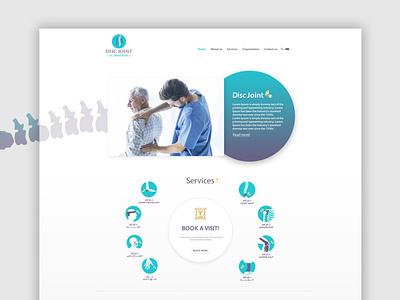Disc Joint Clinic- Website Design & Development discjoint joint disco discpain painting clinic branding ux ui waleedsayed illustration website design