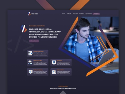 Find Code – Website Design & Development dubai ws findcode code branding ux ui ecommerce waleedsayed illustration website design