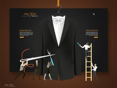 Suit World Website design