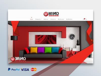 Mind Stores Website Design Development illustration ecommerce design ecommerce onlineshopping design website onlineshop