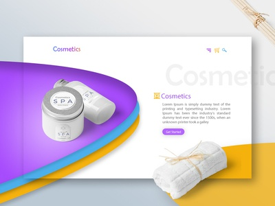 Cosmetics Shop Website Design cosmetics ecommerce design website illustration