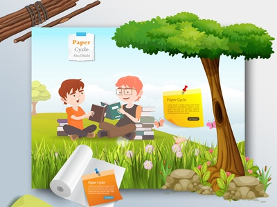 Paper Cycle Website Design papercycle cycling cycle paper illustration website design