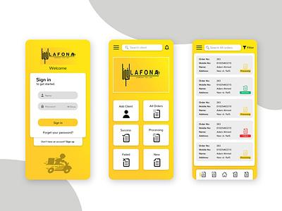 Formal Mobile App Design UI & UX illustration formal delivery app mobile ux mobile ui mobile app design mobile app app design