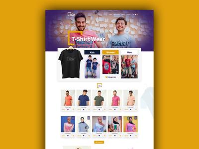 Box Stores Online Shop - Website Design & Ui-Ux clothes shop mens fashion women fashion clothes online store online shop ux branding kids ui waleedsayed website illustration design