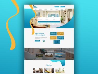 Magic Services Website Design & Development bathroom bedroom deepcleaning cleaning clean magicservices magic branding ecommerce waleedsayed illustration website design