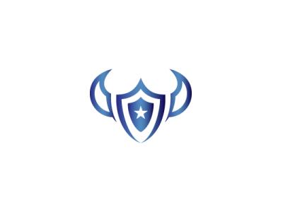 Bison Star Shield Logo guard shield strong animal modern company brand logo company branding vector branding logo design