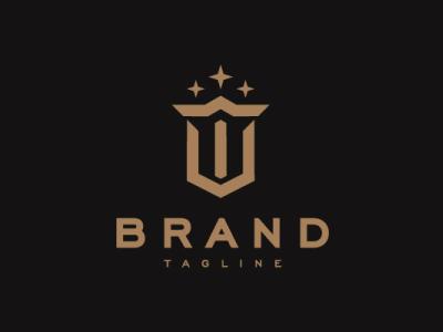 Trident To Stars Logo star combine monogram letter modern company brand logo company branding vector branding logo design