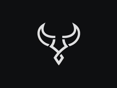Bull Letter Y Logo glyph letter strong animal modern company brand logo company branding vector branding logo design