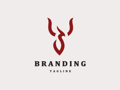 Phoenix Logo simple logo minimal simple bird animal modern company brand logo company branding vector branding logo design